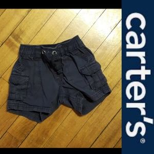 4/$15 Size 9 Months Baby boys navy blue shorts